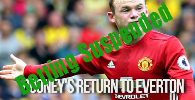 Wayne Rooney Odds now suspended on return to Everton