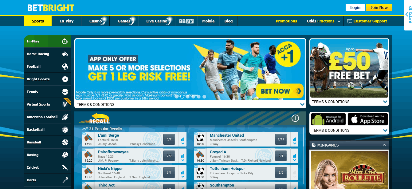 Betbright free bet Bookmaker