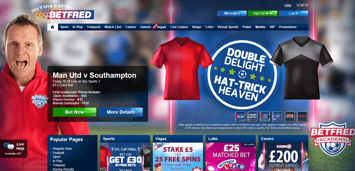 Betfred free bet is worth £60 in Sports and Casino bets