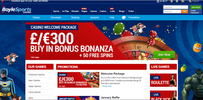 £5 free with No deposit to play at Boylecasino
