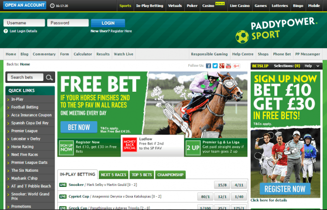 PaddyPower Free Bet