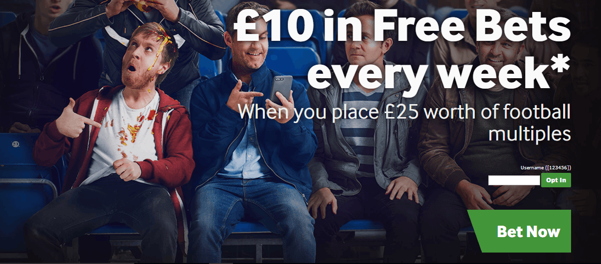 Opt in to the Betway Free Bet Club for £10 every week