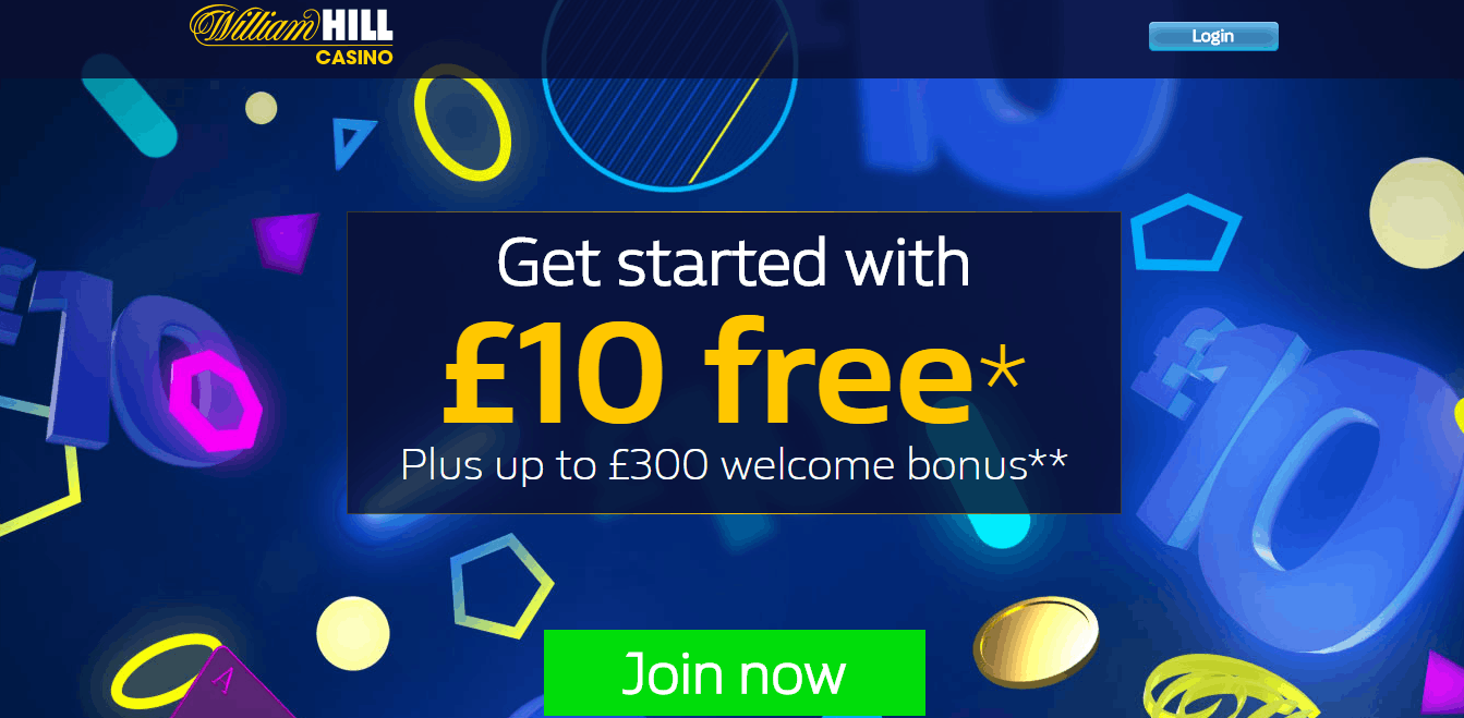 william hill casino 10 free