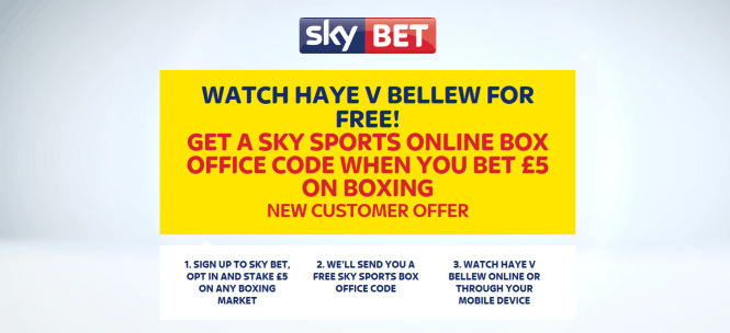 Watch Haye v Bellew Free at Sky Bet on Saturday