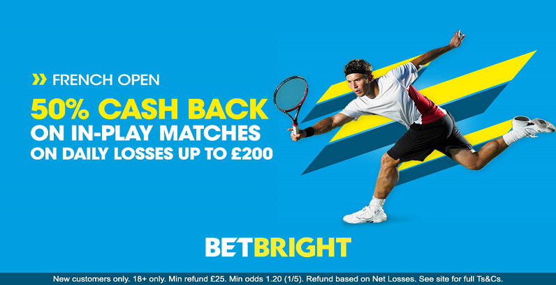 French Open Cash Back on Losses