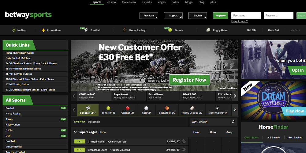 Betway Review of the sites features and layout