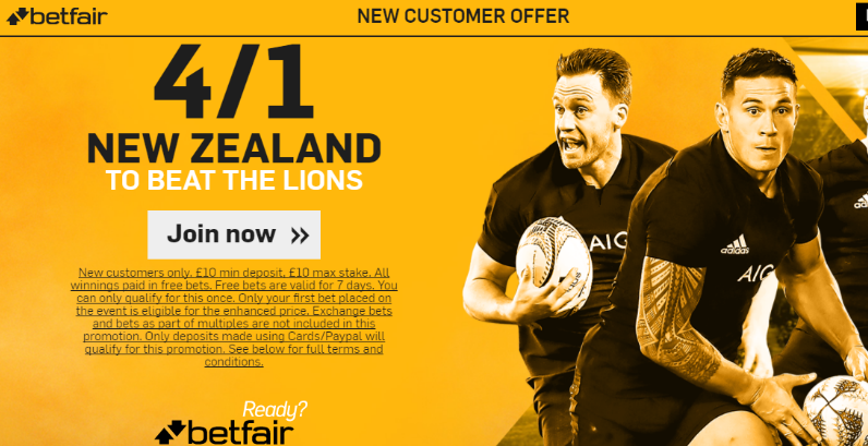 New Zealand 4-1 to beat the Lions