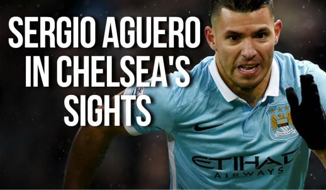 Sergio Aguero in Chelsea sights