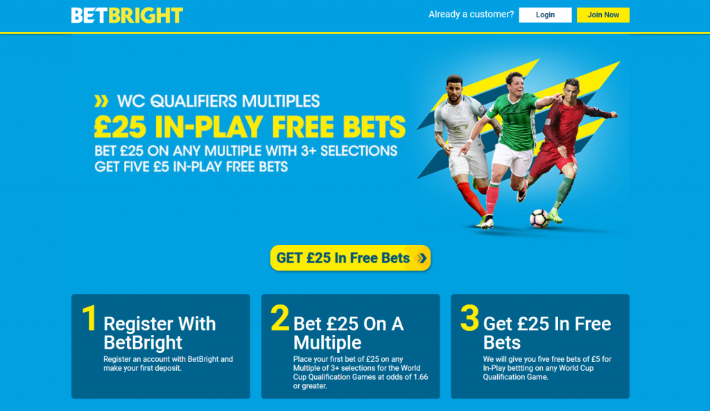 World Cup Qualifiers In-Play Free bets