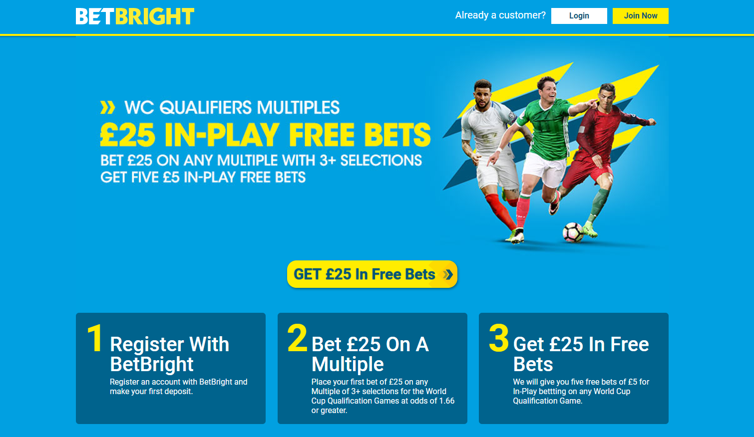 World Cup Qualifier Free bets