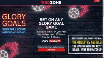 Redzone Free Bet and Glory Goals Promotion