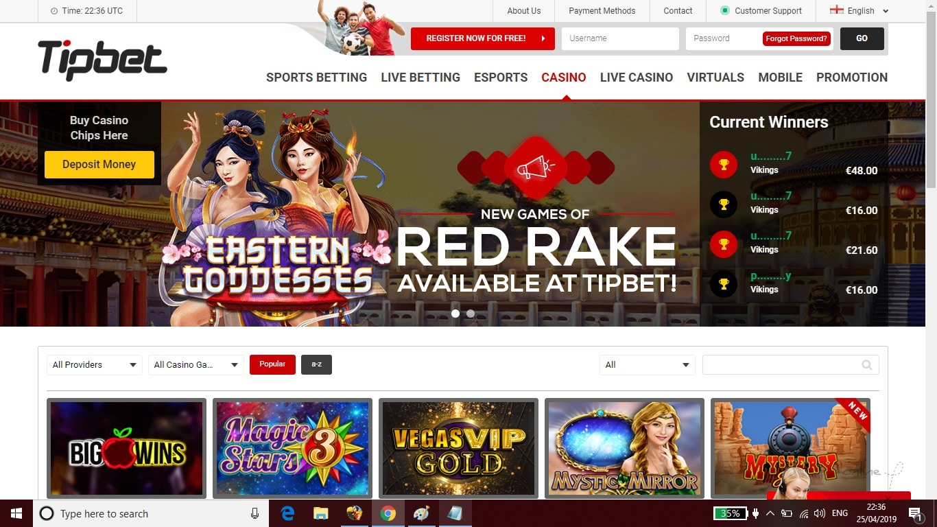 Tipbet Casino Bonus Review