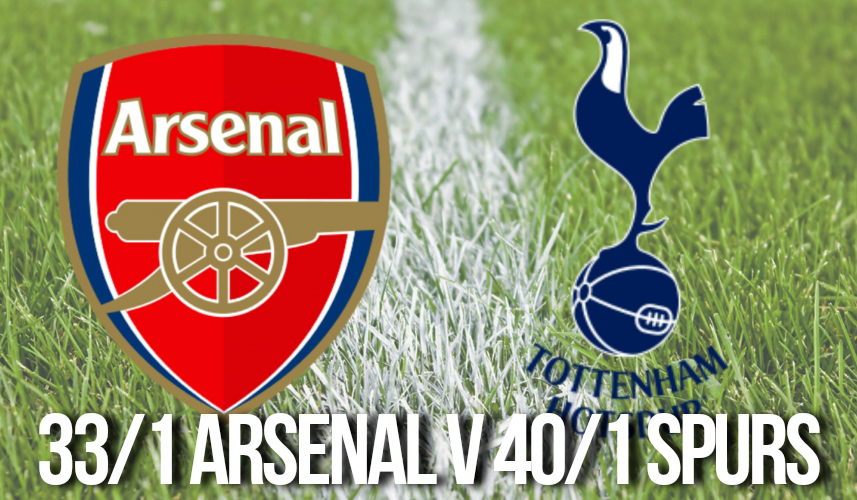 Premier League Betting Odds Enhanced Offers - 33/1 Arsenal v 40/1 Spurs