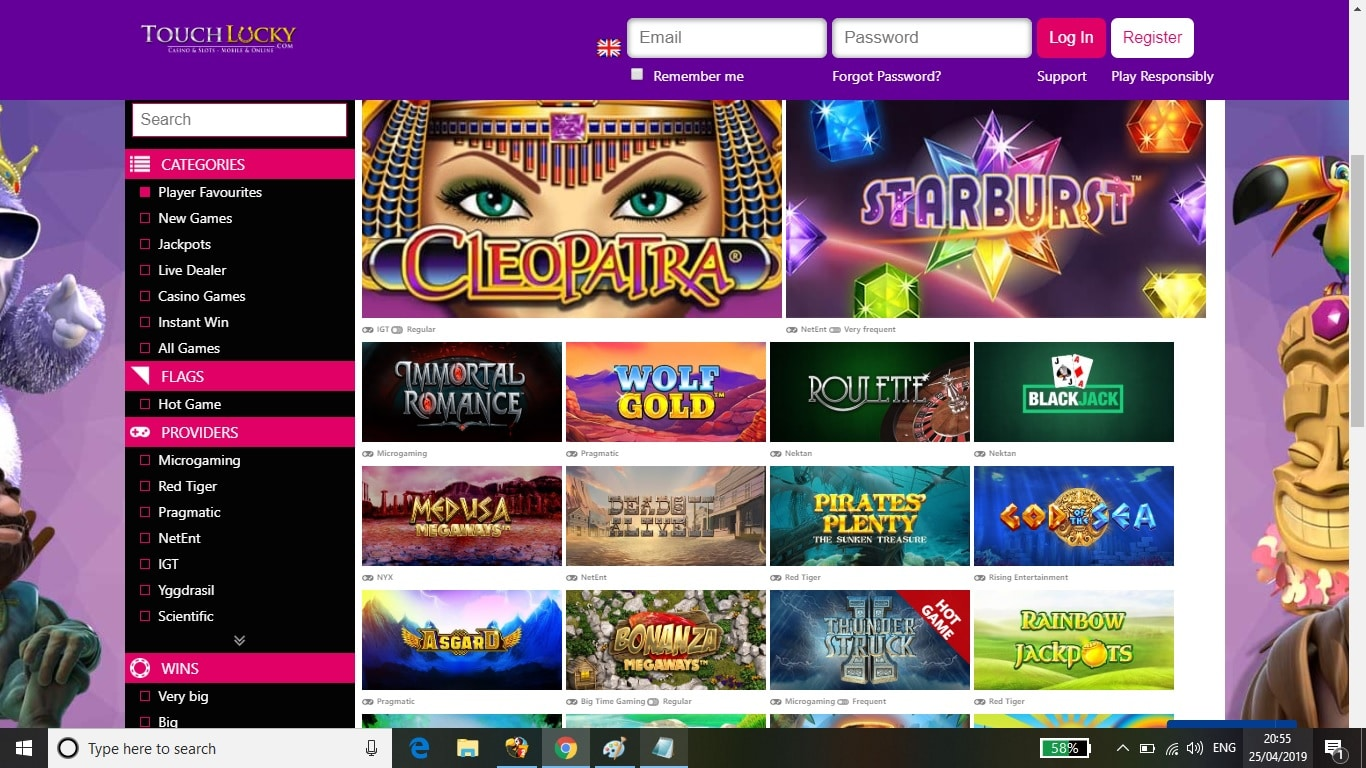 Touch Lucky Casino Bonus Review