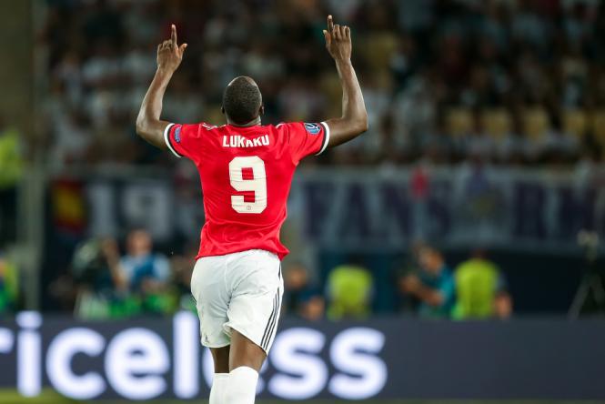 Lukaku Manchester United vs Stoke City