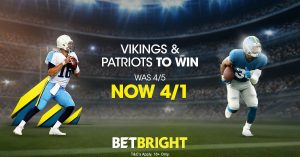 NFL Betting Double - Vikings & Patriots Was 4/5 now 4/1