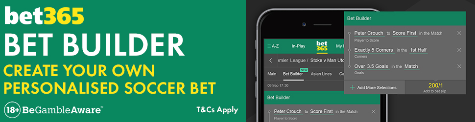 bet365's new football betting feature Bet Builder
