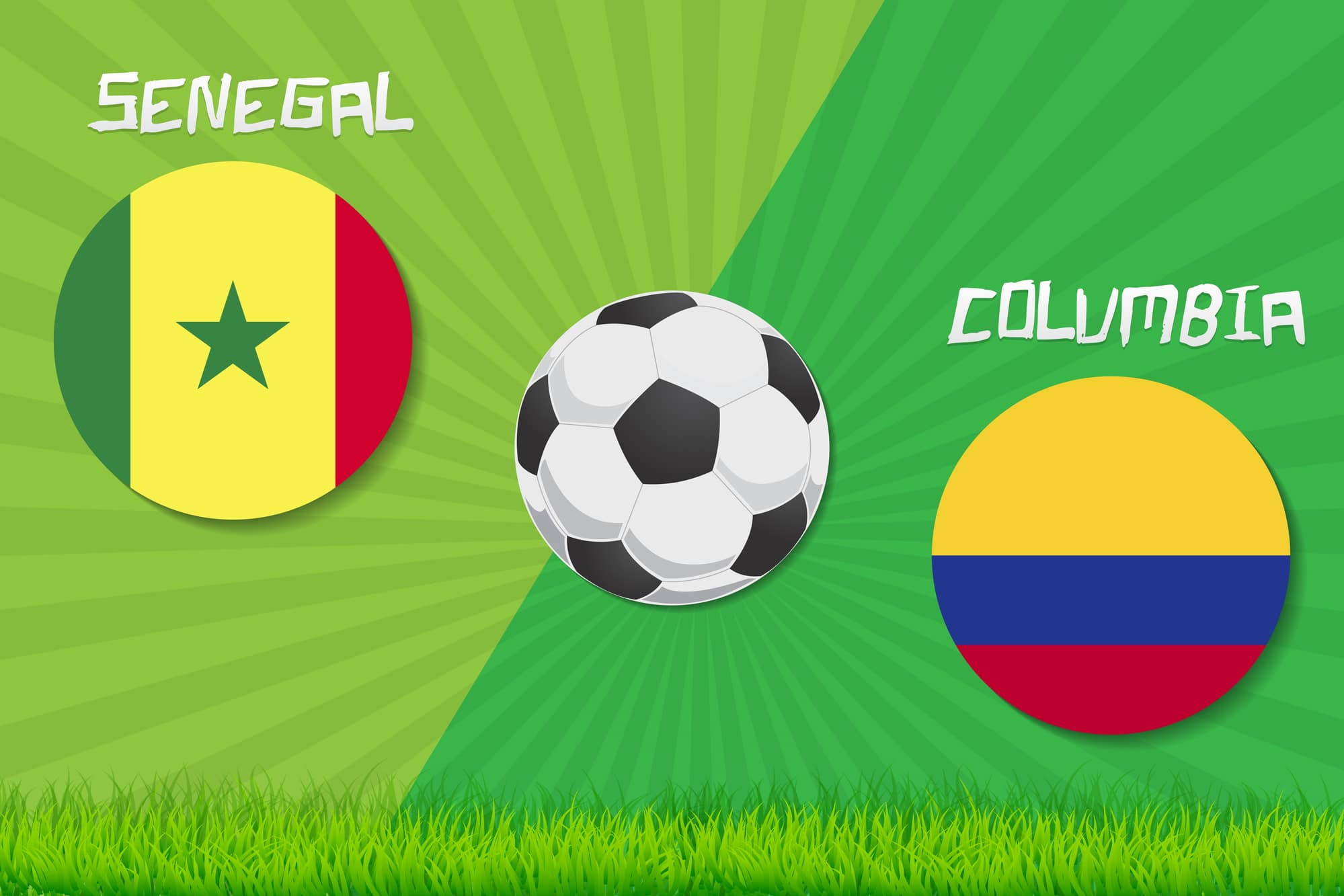Colombia 1, Senegal 0