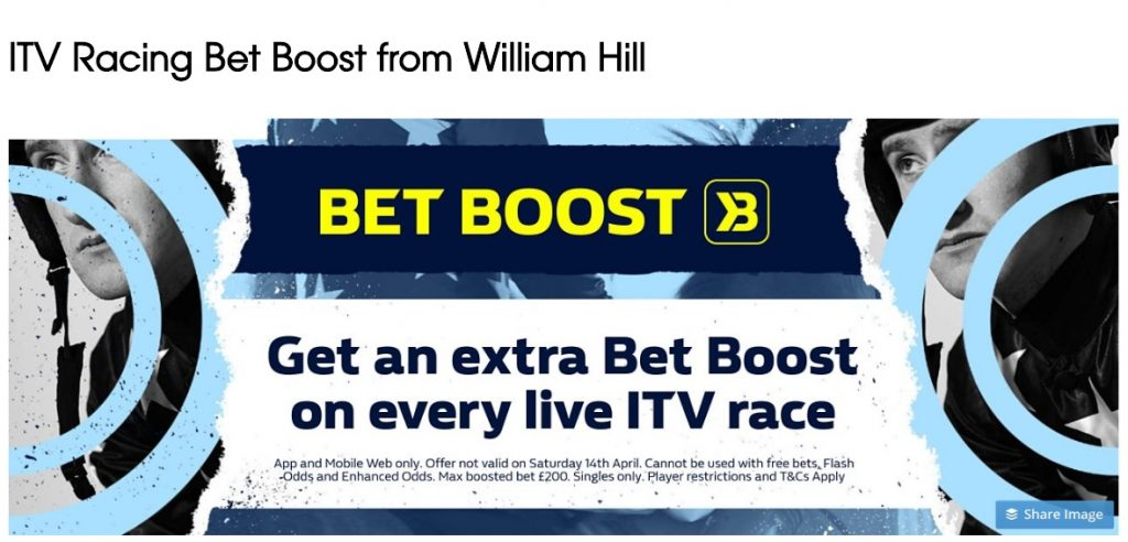 Wiliamm Hill Horse Racing Bet Boost on ALL ITV Races