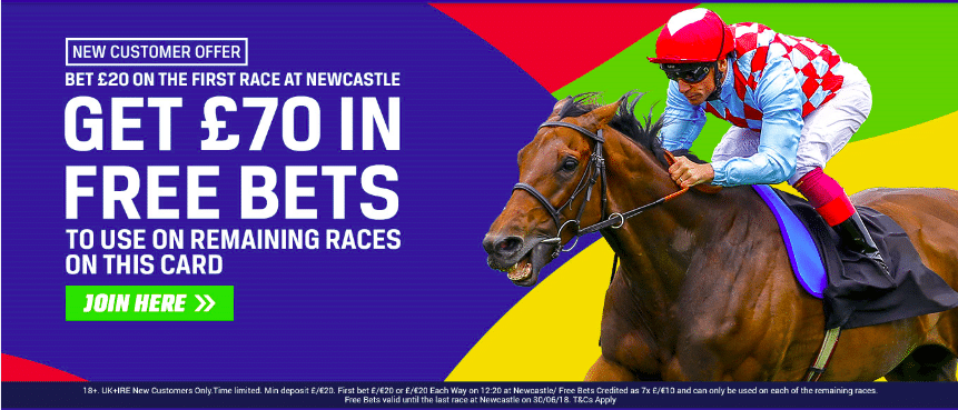 Newcastle Horse Racing Free Bets