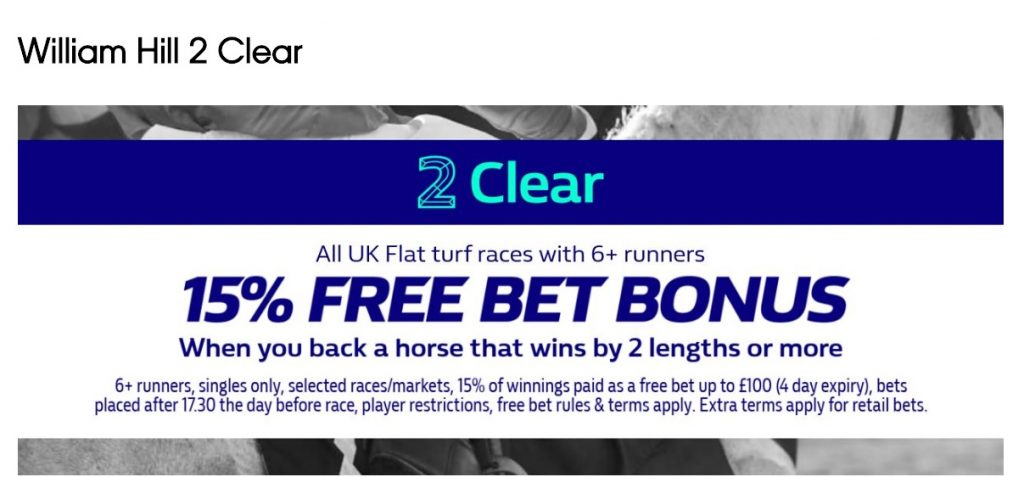 William Hill Horse Racing Win Bonus