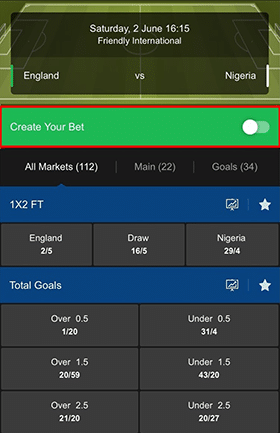 Create Your Own Bet