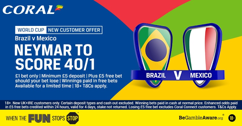 Neymar to Score Anytime at 40/1