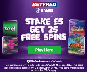 Betfred Games 25 Free Spins