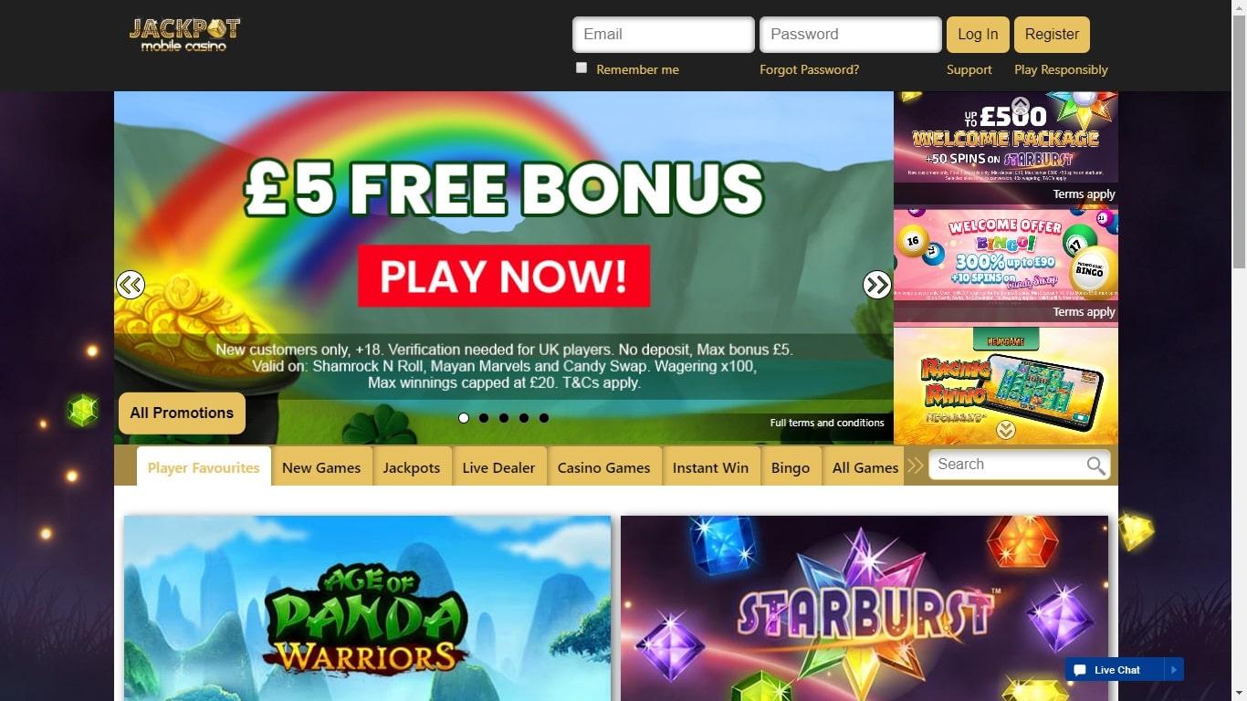 Jackpot Mobile Casino £5 Free No Deposit
