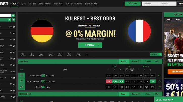 Bookies with Best Football Odds: KULBET – 0% MARGIN