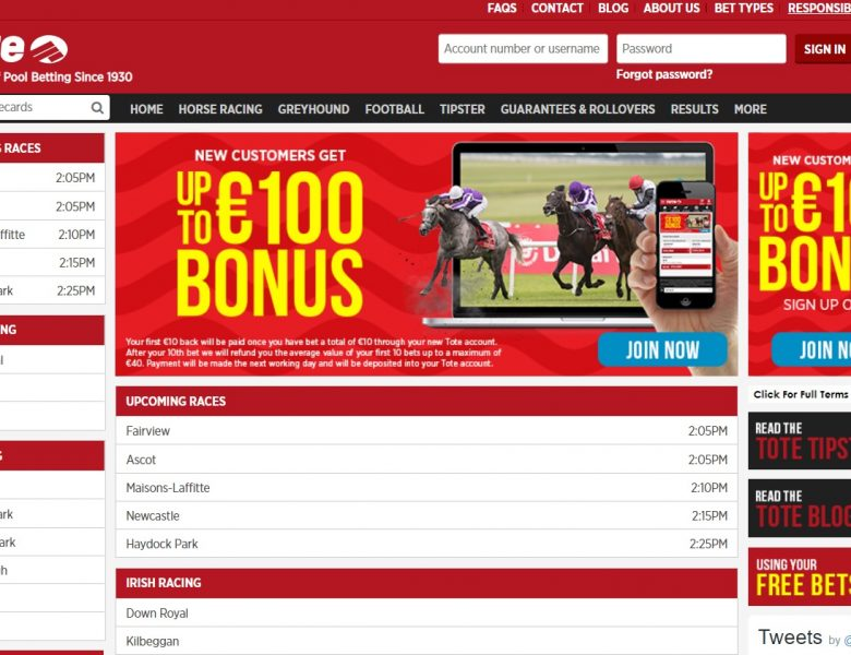 €5 Free Bet at The Tote Ireland – Today's Horse Racing Betting Offer