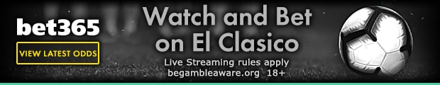 Watch El Clasico Live and bet on the game at Bet365