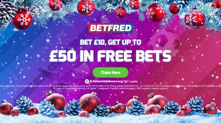 Betfred Free Bet Offer up to £50 in Free Bets with their Premier League betting special