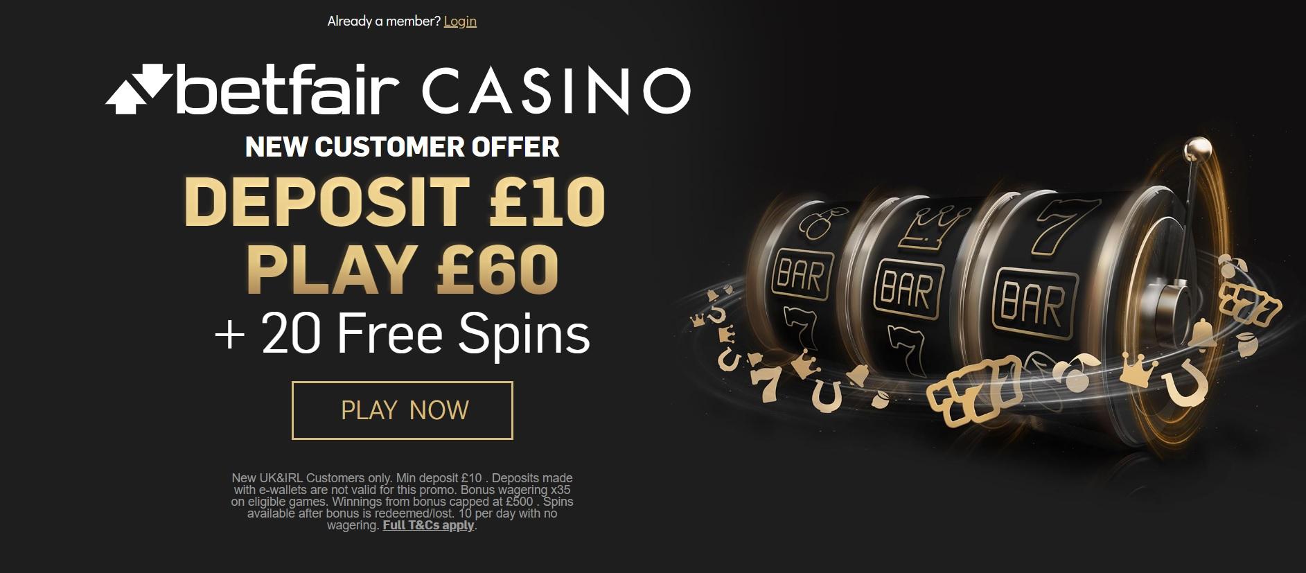 Betfair Casino Sign Up Offer