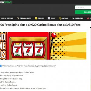 Quinnbet Casino Bonus and Free Spins Terms