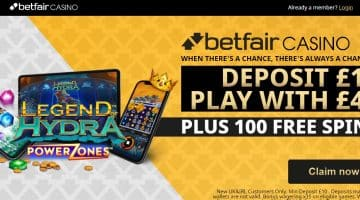 Betfair Casino Sign Up Offer