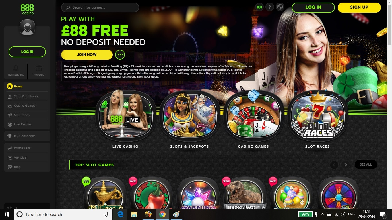 888casino No Deposit OfferReview