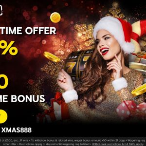 Casino Signup Bonus for Christmas at 888Casino
