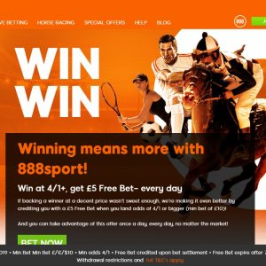 Win Win with 888 Sport with a £5 Free Bet