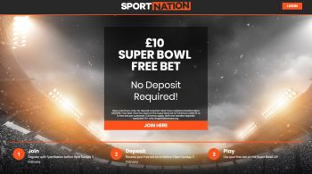Super Bowl £10 Free Bet No deposit