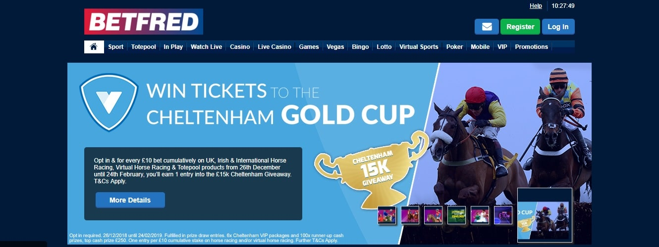 Betfred Cheltenham win Gold Cup tickets