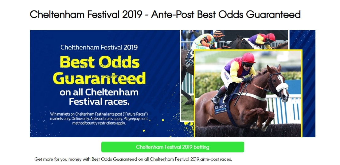 William Hill Cheltenham Offers Best odds Guaranteed