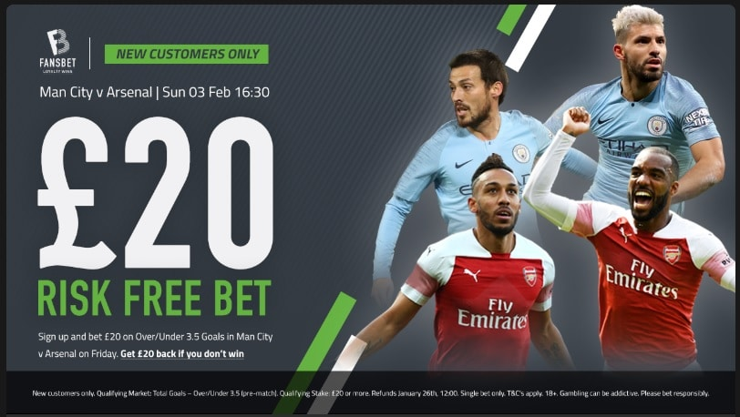 Man City v Arsenal Risk Free bet