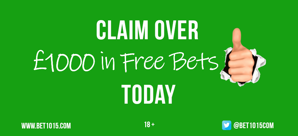 Bookmakers Free Bets by Amount and more options at Bet1015.com