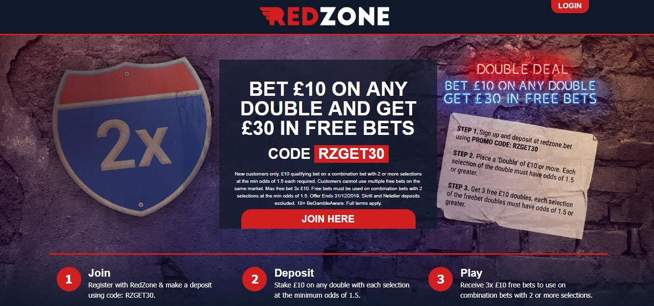 RedZone Sports Free £30 Bet