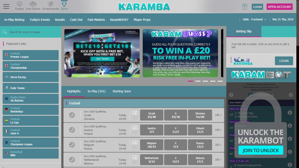 Karamba Sports Free Bet & Review