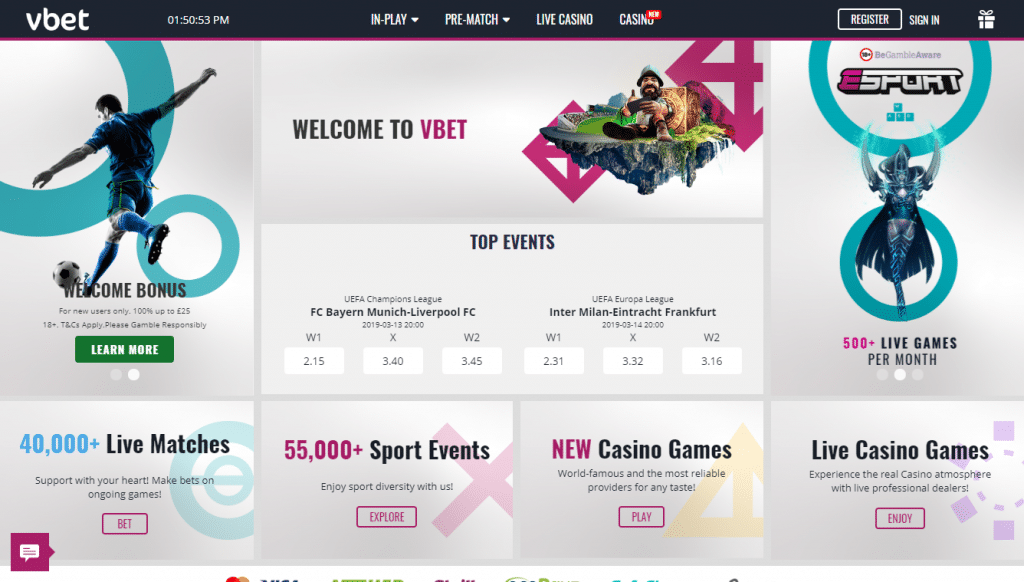 Vbet Bookmaker Review