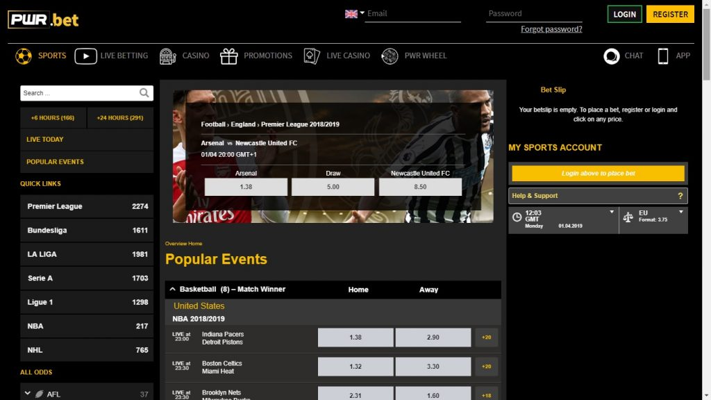 PWRBet Free Bet and Review of online Bookmaker