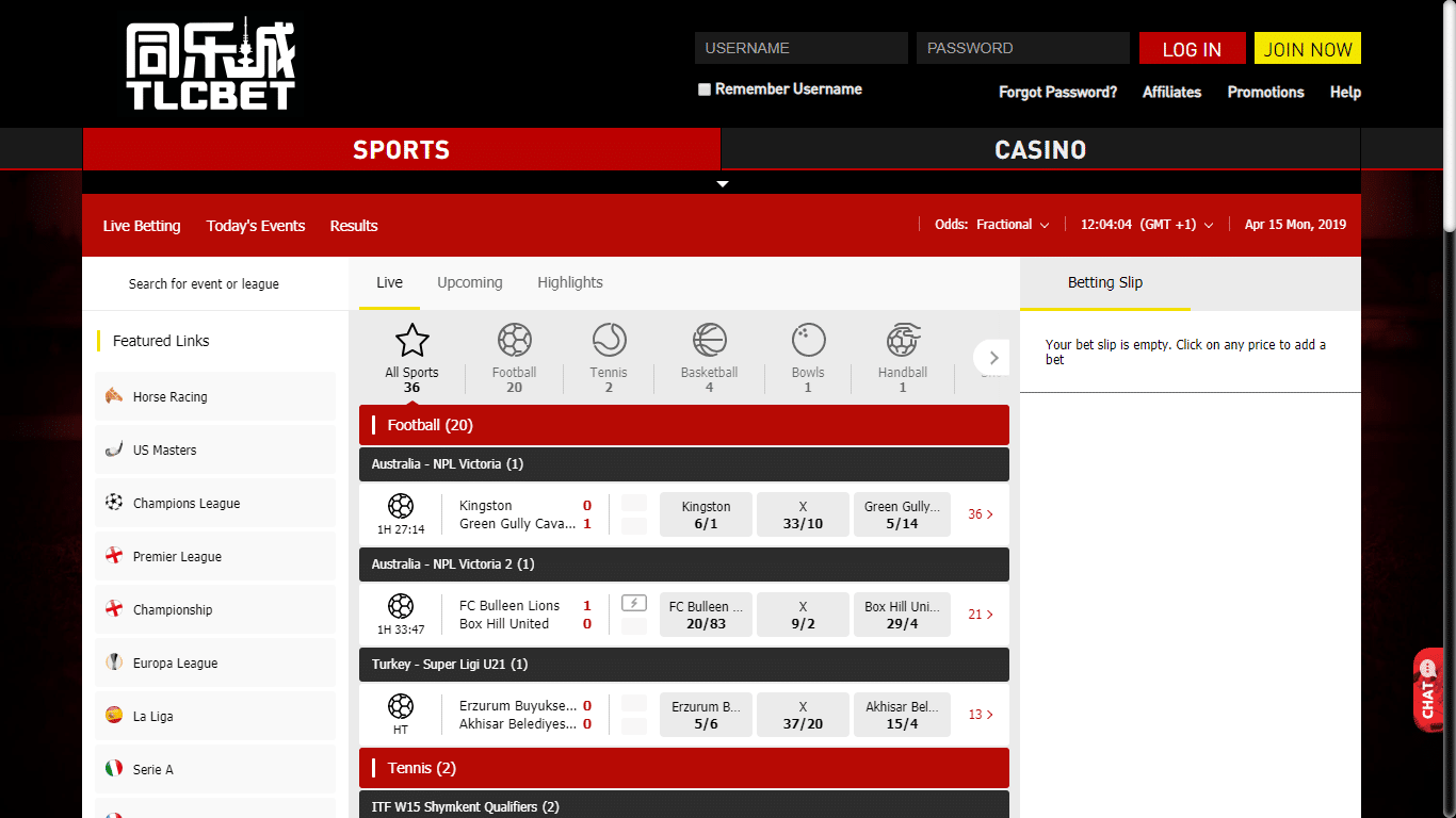 TLCbet Free Bet and Review of Bookmaker