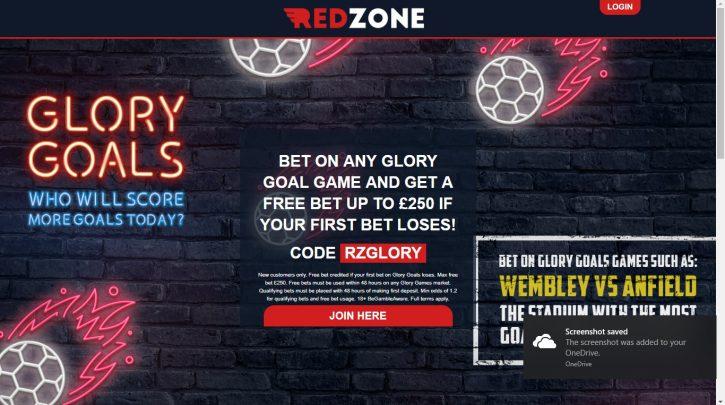 Redzone Sports Glory Goals Offer
